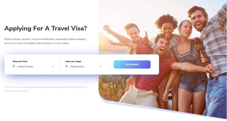 Apply for eVisa using Visa Web Services
